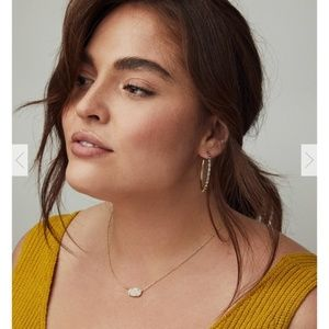 Kendra Scott Elisa Gold Druzy Necklace